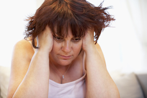 woman experiencing inflammation
